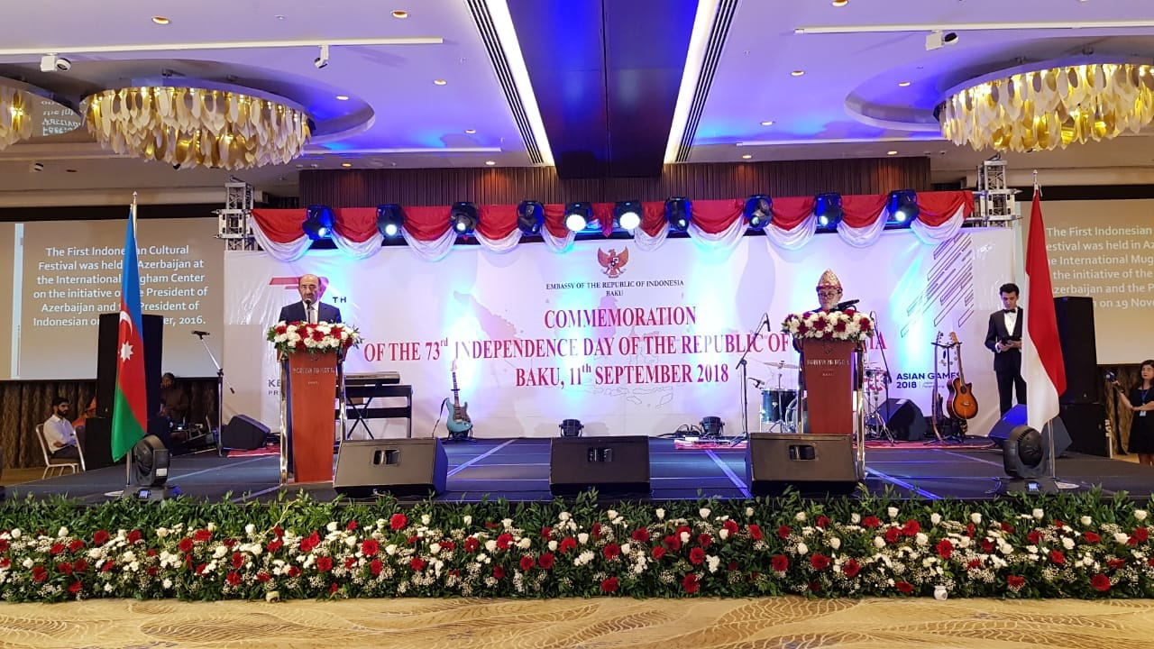 "KBRI BAKU Azerbaijan Selenggarakan Resepsi Diplomatik ""Commeration Of The 73 Independence Day Of The Republic Of Indonesia""."