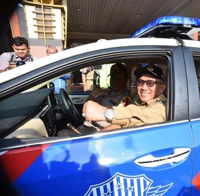 Awal Tahun 2019, Pemkot Depok Berikan Hibah Kendaraan Operasional Kepada Polresta Depok.