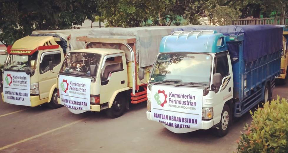 Kemenperin Kirim Bantuan Bagi Korban Tsunami Selat Sunda