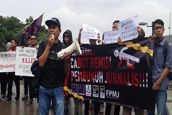 Aliansi Jurnalis Indonesia Gelar Aksi Tolak Remisi Pembunuh Wartawan