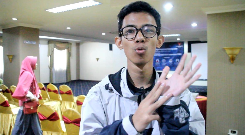 Semangat Vlogger Disabilitas Asal Bandung Dalam Deklarasi Lawan Hoax