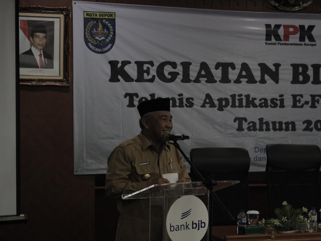 Buka Bintek e-LHKPN, Walikota Tegaskan Para Penyelenggara Negara Harus Siap Diperiksa dan Melaporkan Kekayaaanya
