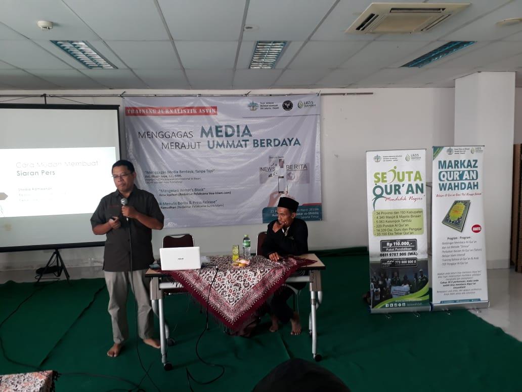 Pelatihan Jurnalistik Forjim Bekali Aktifis Dakwah Melek Informasi
