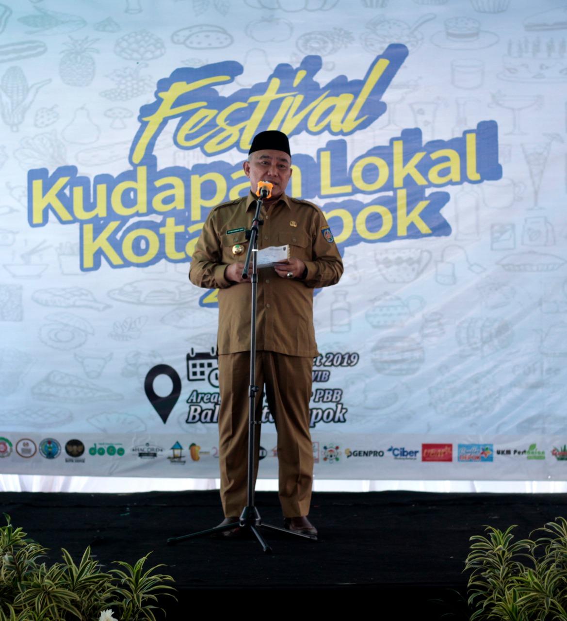 Wali Kota Depok, Beri Sambutan di Festival Kudapan Lokal Kota Depok