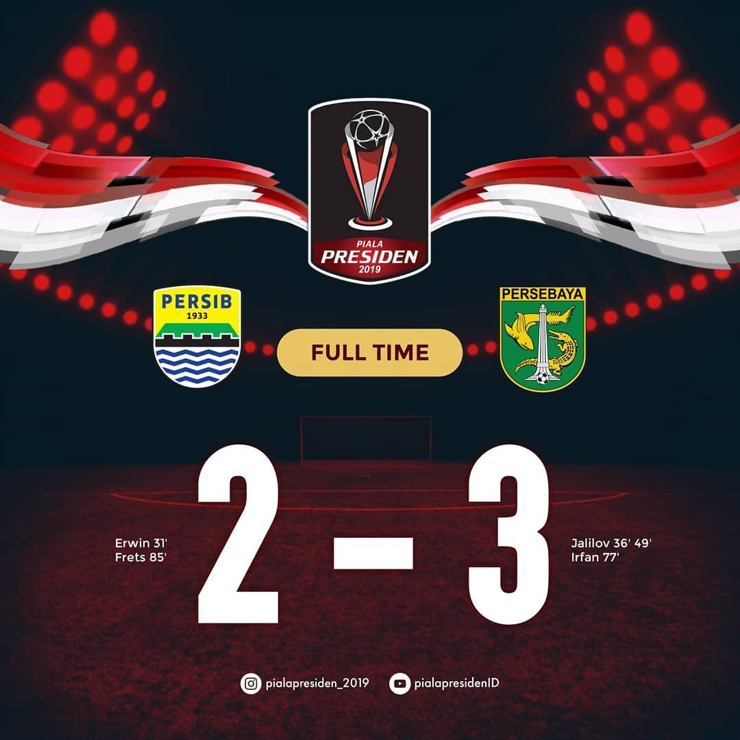 Hasil Akhir Piala Presiden 2019 : Persebaya vs Persib, Skor Akhir 3-2
