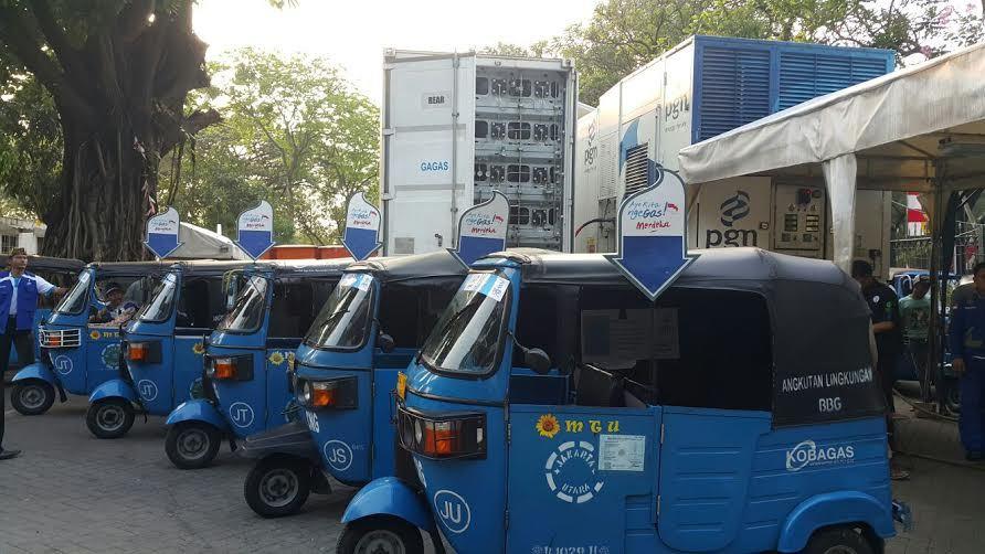 Lima Pangkalan Bajaj di Jakarta Diresmikan Pemprov DKI