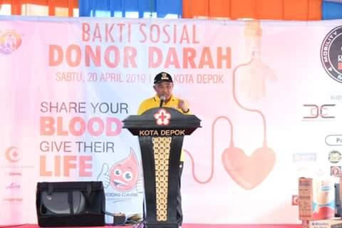 PMI Depok Gelar Donor Darah Menyambut HUT Depok Ke-20
