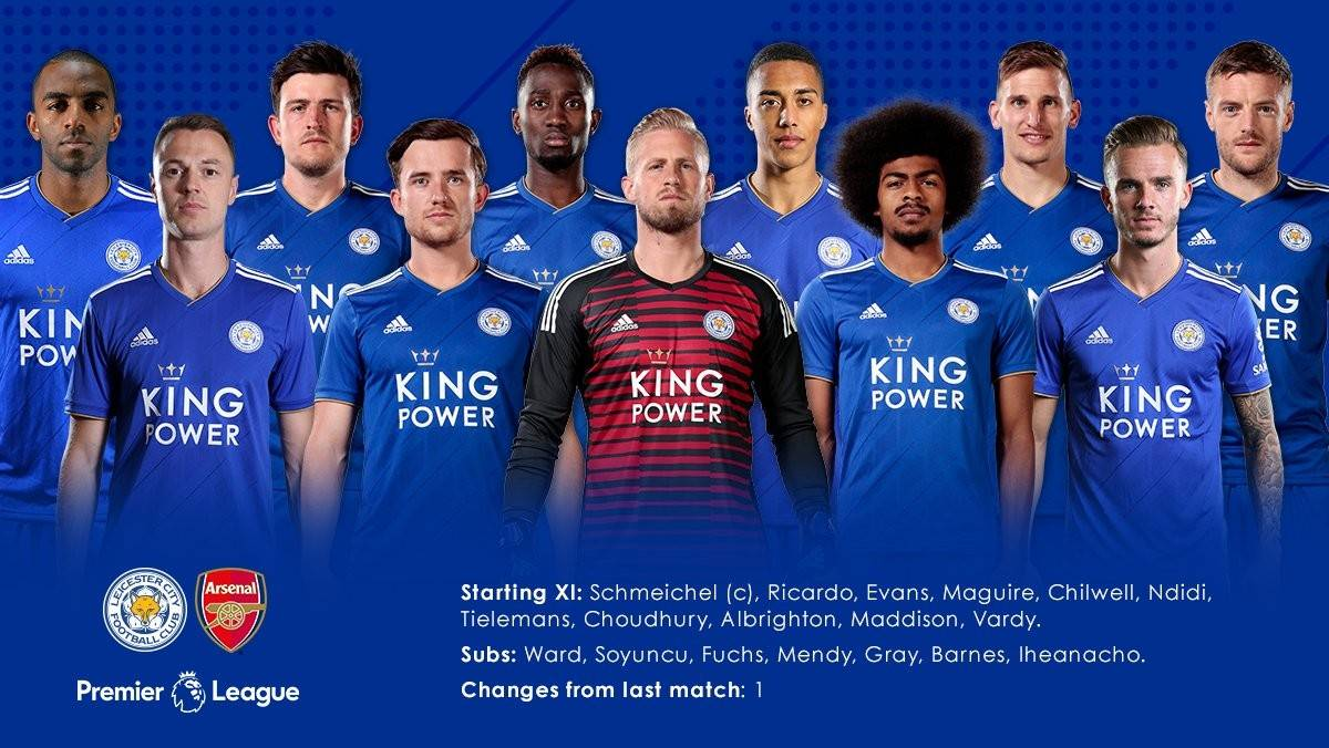 Line Up Skuad Leicester