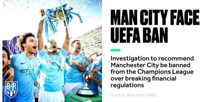 Manchester City Terancam Dilarang Ikut Serta Di Liga Champions Musim Depan