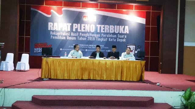 KPU Kota Depok Gelar Rapat Pleno Terbuka Hasil Pemilu 2019