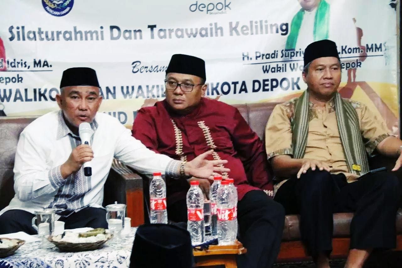 Walikota Beserta Wakil Walikota Depok Bukber dan Dialog di Masjid Ramah Anak Al Marjan PDR