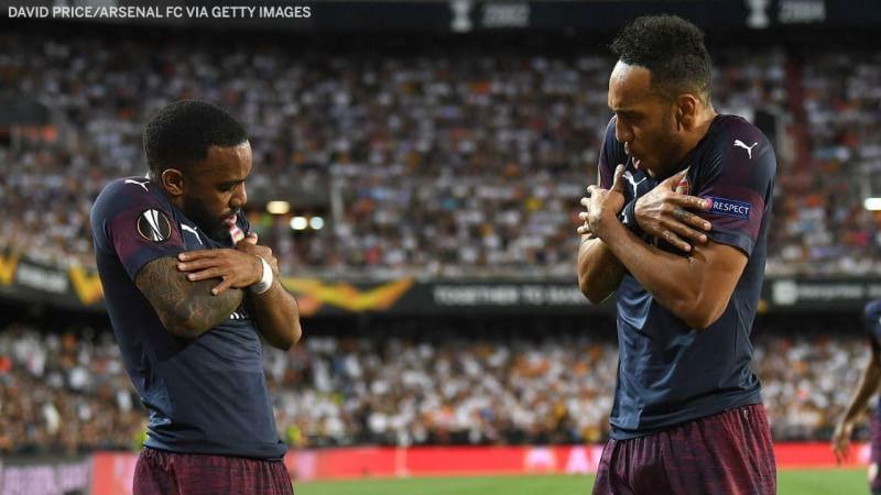 Aubameyang Cetak Hattrick Dan Bawa Arsenal Lolos Liga Eropa Setelah Kalahkan Valencia 4-2 Agg:(7-3)