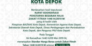 Baznas Kota Depok Tentukan Besaran Zakat Fitrah Rp 35 Ribu per Orang