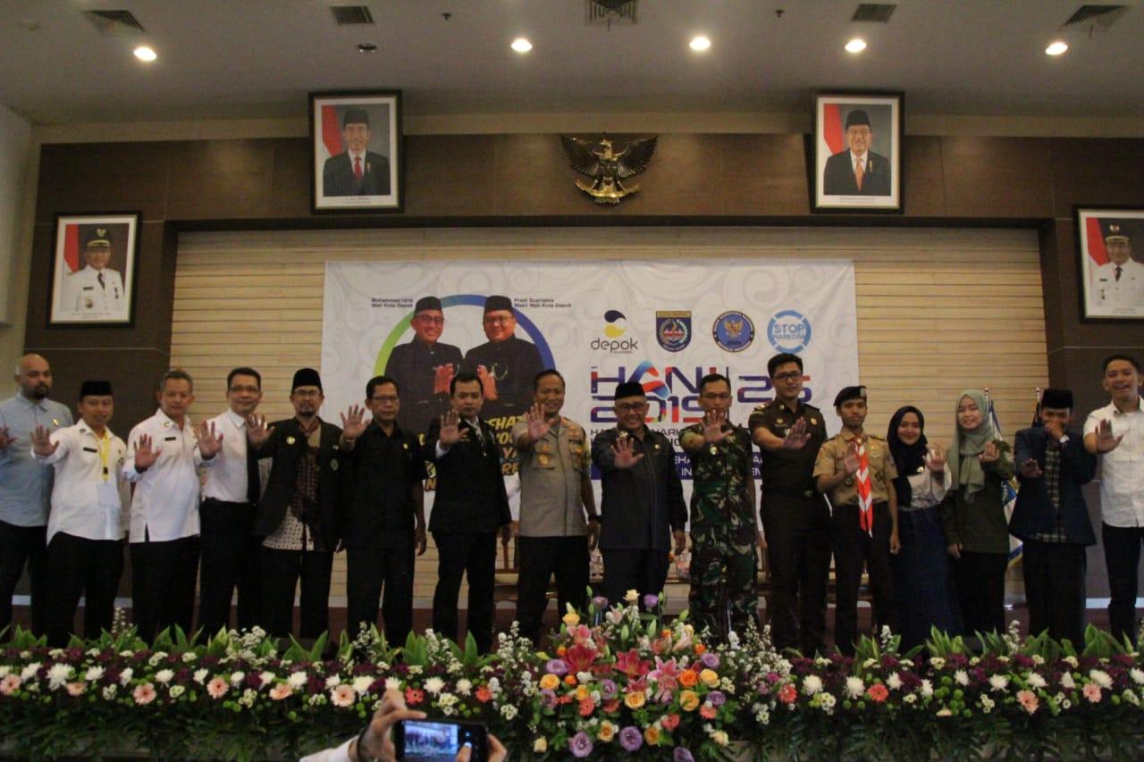 Pemkot Depok Bersama BNN Menyelenggarakan Kegiatan Peringatan Hari Anti Narkotika Internasinal (HANI)