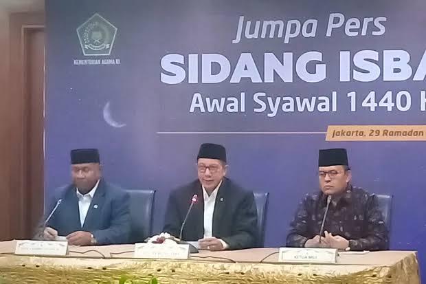 Pemerintah Tetapkan Idul Fitri 1440 H Jatuh pada 5 Juni