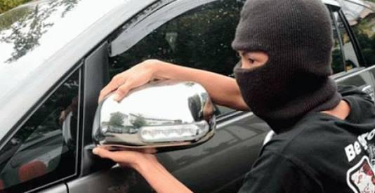 Polisi Tangkap Pelaku Pencuri Spion Mobil Fortuner