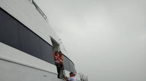 40 Penumpang Kapal MV Indera Bupala Berbendera Singapura yang Kandas Dievakuasi Sea and Coast Guard Tanjung Uban