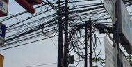 Pemkot Depok Memutus Jaringan Kabel Yang Membentang Disepanjang Jalan Margonda