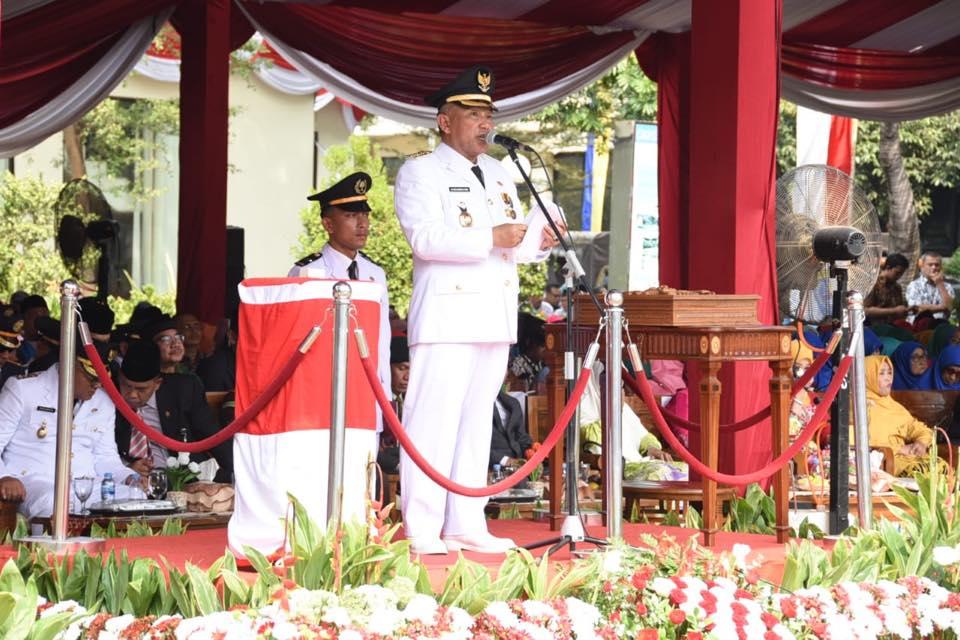Pemkot Depok Gelar Upacara Bendera HUT RI Ke 74