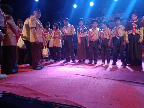 Puncak HUT Pramuka ke 58 Kota Depok tampil beda