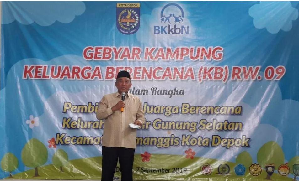 Wali Kota Depok, Mohammad Idris Tegaskan Kampung KB Bukan Kampung Kontrasepsi