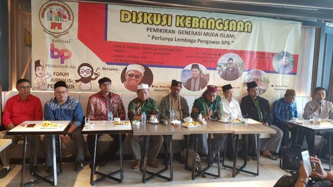 Sejumlah Tokoh Muda Islam, Adakan Diskusi Agar Netizen Dapat Melek Terhadap Isu RUU KPK