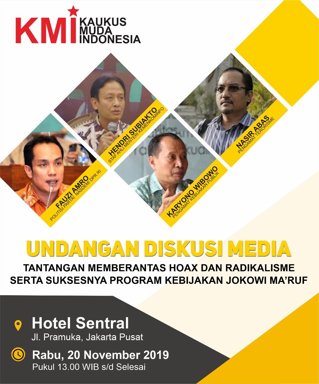 KMI Adakan Diskusi Tantangan Berantas Berita Bohong