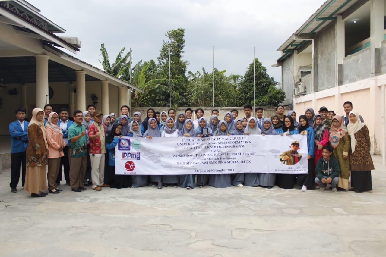 Universitas BSI Gelar Pengabdian Masyarakat di SMK Bina Mulia Depok