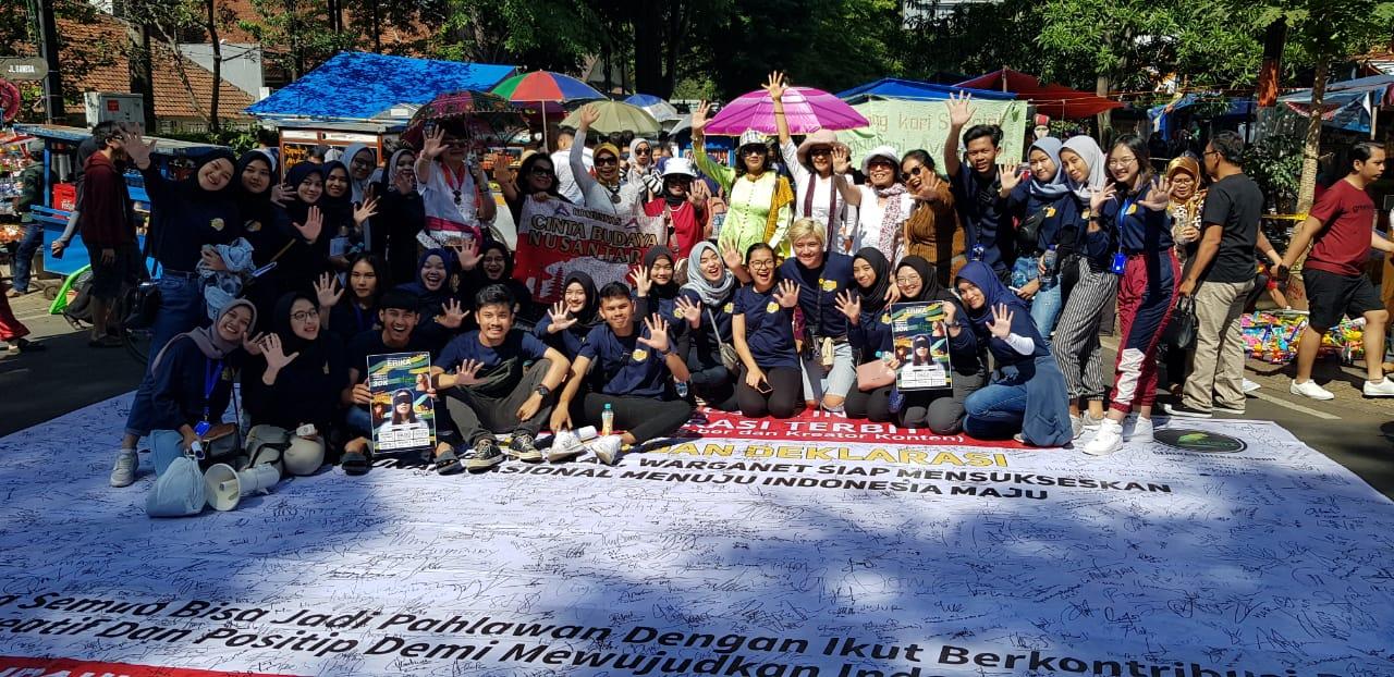 Peringati Hari Pahlawan, FPMSI Ajak Pengunjung CFD Kota Bandung Lawan Hoaks dan Dukung Pembangunan Nasional