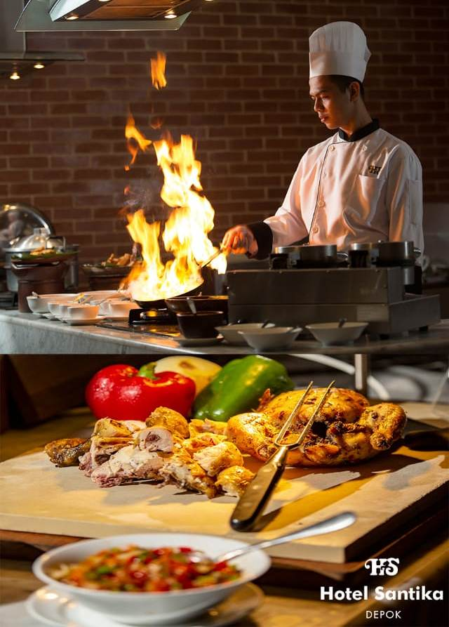 Menikmati Nuansa Malam di Kolam Renang Hotel Santika Depok dengan Suguhan Backyard BBQ