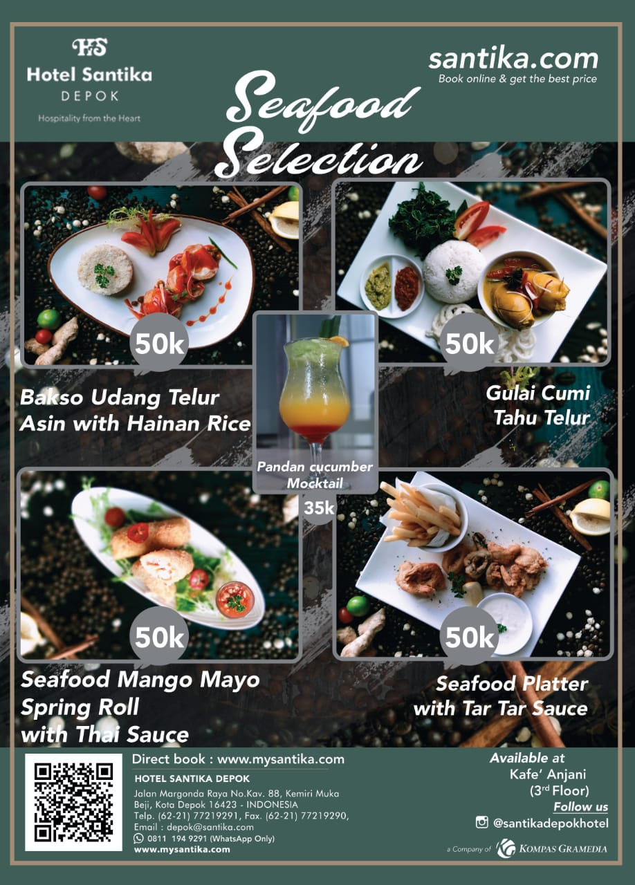 Hidangan Laut Indonesian Diskon A la Chef Santika Depok