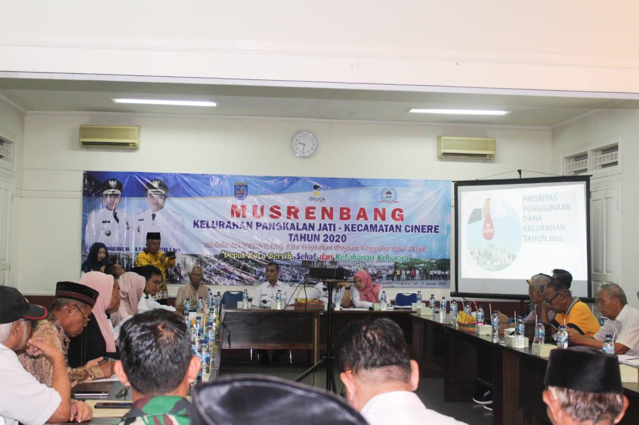 Kelurahan Pangkalan Jati Prioritaskan 3 Hot Isue Dalam Musrenbang 2020