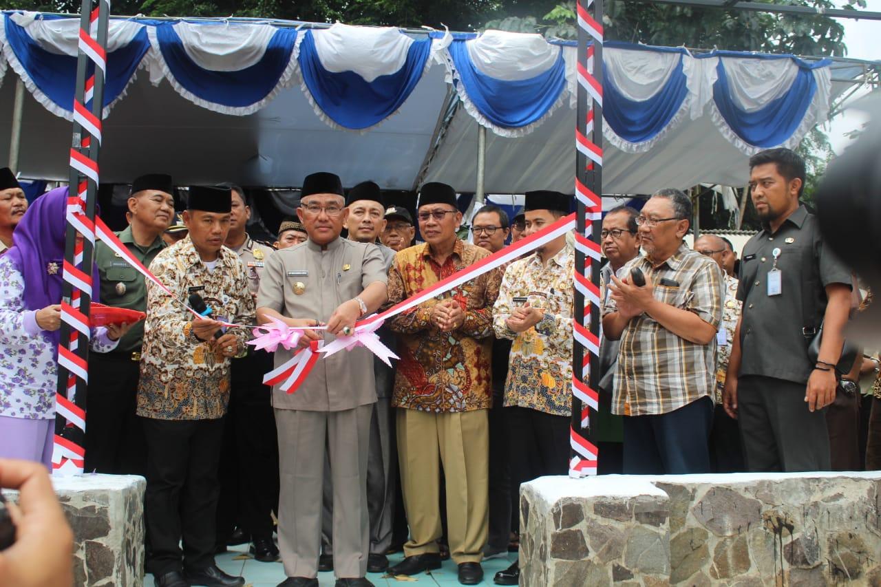 Wali Kota Depok, Mohammad Idris Resmikan Lapangan Olahraga Depok Jaya