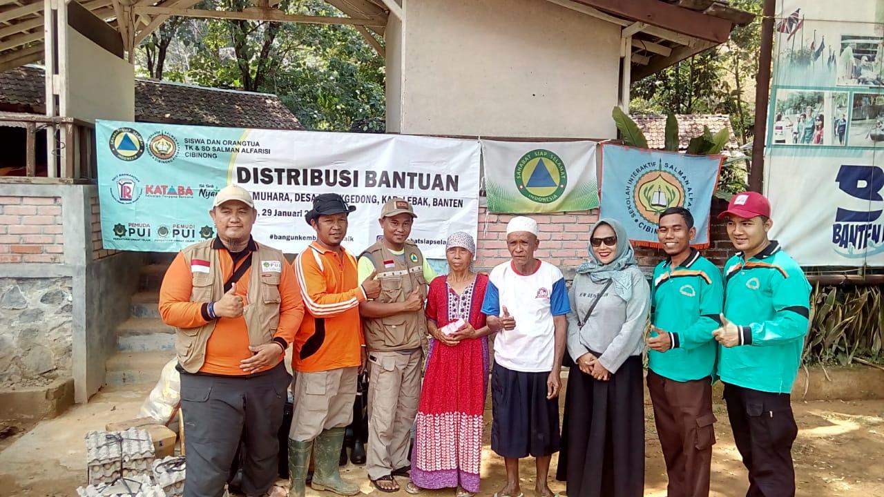 KATABA dan S3 serahkan distribusi bantuan kepada korban banjir bandang Lebak, Banten