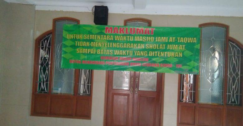 Maklumat Tidak Menyelenggarakan Salat Jumat, di Keluarkan Warga Kp. Lio Depok
