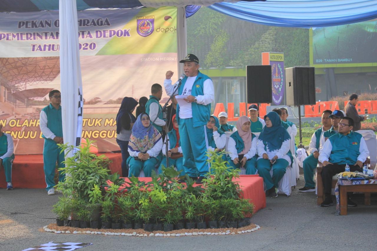 Tingkatkan Kebugaran dan Silaturahmi, Wali Kota Depok, Mohammad Idris dan Forkopimda Buka Porpemkot 2020