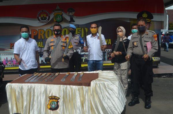 Polresta Metro Depok Ringkus Pelaku Aksi Kriminal Bersenjata Tajam
