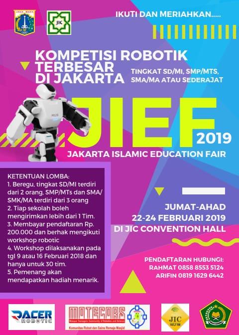 JIC Gelar Gontes Robotik Terbesar di Jakarta