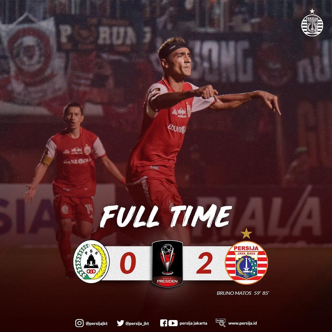Persija Jakarta ke 8 Besar Piala Presiden 2019